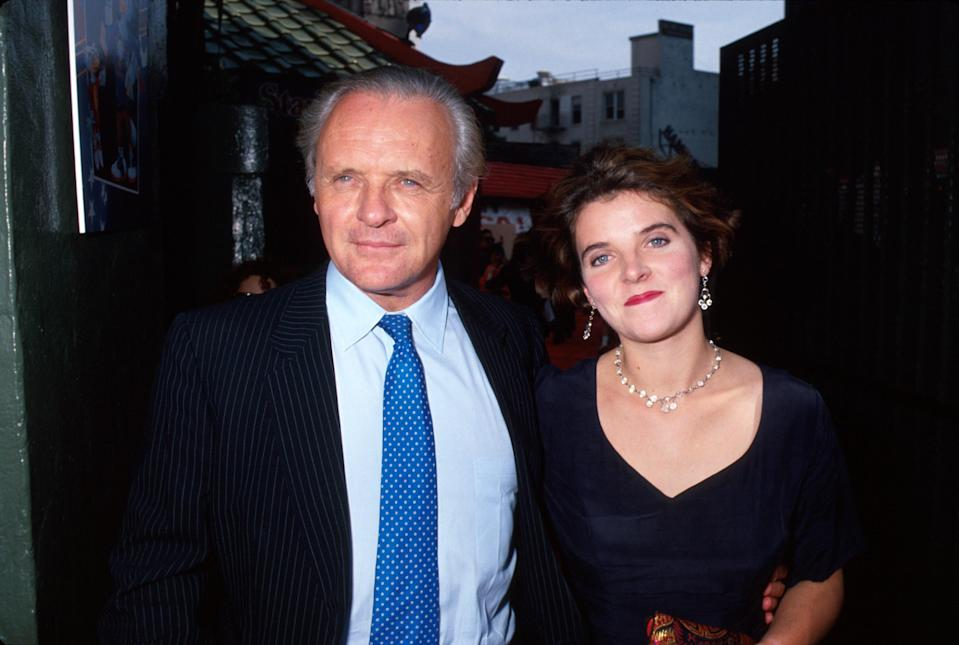Anthony and Abigail Hopkins in 1991. (Photo: Getty Images)