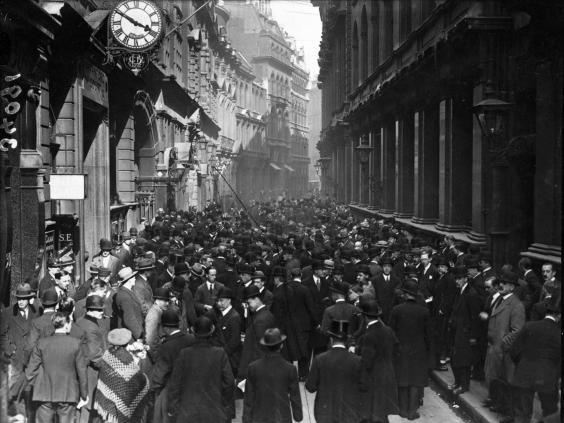 The London stock exchange in 1922 (Getty)