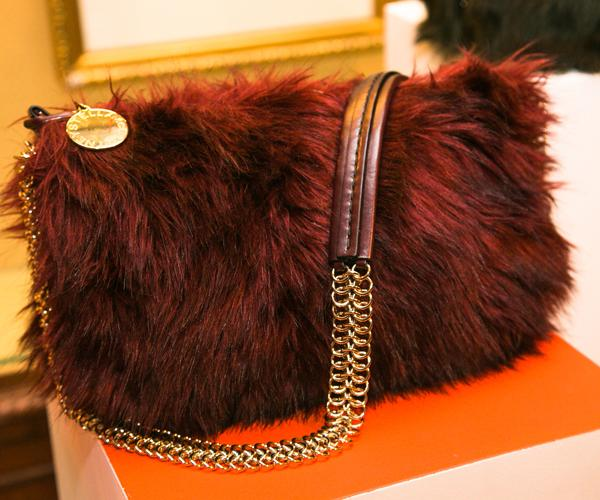 Furry clutches were on display during the presentation in New York ©Rex