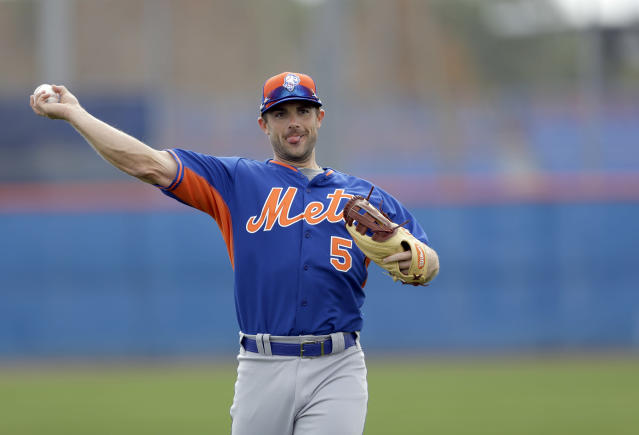 "<a class=""link rapid-noclick-resp"" href=""/mlb/players/7382/"" data-ylk=""slk:David Wright"">David Wright</a> might be on his way back to a baseball field for the first time in two years. (AP Photo)"
