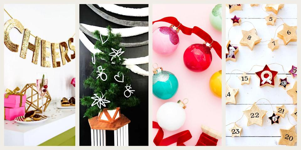"""<p>Holiday garland is one of the most versatile <a href=""""https://www.oprahdaily.com/life/g23939784/christmas-decorations-ideas/"""" rel=""""nofollow noopener"""" target=""""_blank"""" data-ylk=""""slk:Christmas decorations"""" class=""""link rapid-noclick-resp"""">Christmas decorations</a> out there. It looks great wrapped around the <a href=""""https://www.oprahdaily.com/life/g29114554/christmas-tree-decorating-ideas/"""" rel=""""nofollow noopener"""" target=""""_blank"""" data-ylk=""""slk:Christmas tree"""" class=""""link rapid-noclick-resp"""">Christmas tree</a>, instantly turns the mantle into a focal point, adds cheer to your staircase, makes your home <a href=""""https://www.oprahdaily.com/life/g29528415/christmas-party-theme-ideas/"""" rel=""""nofollow noopener"""" target=""""_blank"""" data-ylk=""""slk:holiday party-ready"""" class=""""link rapid-noclick-resp"""">holiday party-ready</a>, and even improves curb appeal when wrapped around your lamppost or the columns on your porch.</p><p>The problem: Store-bought garland can be expensive and underwhelming (read: sparse and plastic) all at the same time. The solution: Make your own Christmas garland. When you DIY, you can create something aesthetically-pleasing for less money—not to mention, options are boundless. </p><p>Try paper lanterns or Christmas lights, felt words and phrases, popsicle stick snowflakes covered in rhinestones, or even red ribbons or balloon arches. You could even use live greenery like eucalyptus, evergreen, poinsettia, or laurels to create table runners, chandelier decor, and gilded garland. And if you have the sewing know-how, craft mini felt figurines from the Nutcracker or a <a href=""""https://www.oprahdaily.com/life/g37445770/diy-christmas-stockings/"""" rel=""""nofollow noopener"""" target=""""_blank"""" data-ylk=""""slk:series of stockings"""" class=""""link rapid-noclick-resp"""">series of stockings </a>that double as a <a href=""""https://www.oprahdaily.com/life/g37302061/unique-advent-calendars/"""" rel=""""nofollow noopener"""" target=""""_blank"""" data-ylk=""""slk:unique advent calendar"""" class=""""link rapid-nocl"""