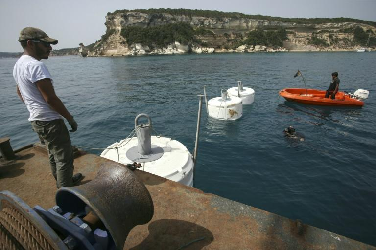 New moorings are meant to adapt to the seafloor by mimicking its surface (AFP/Pascal POCHARD-CASABIANCA)