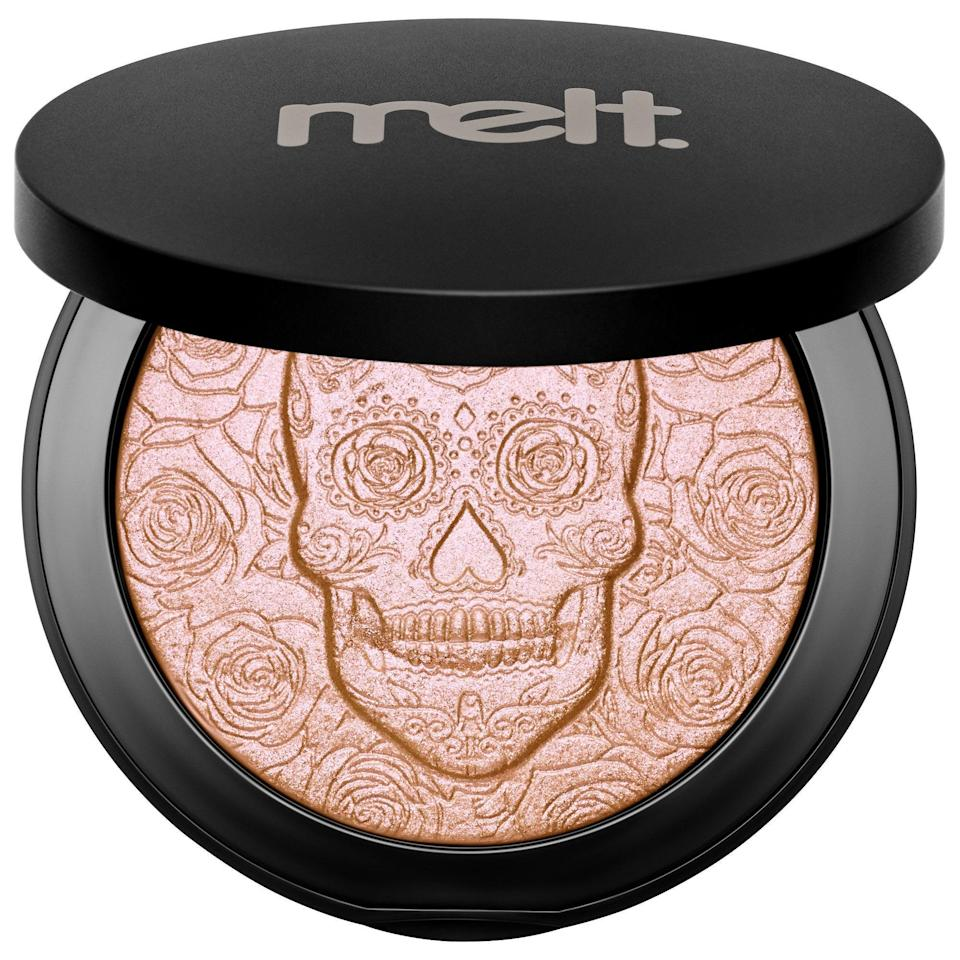 """<h3>Melt Cosmetics </h3><br>Indie brand Melt Cosmetics might be new to the Sephora roster as of last year, but they've been making noise in the industry for quite some time. Back in 2012, cofounders Lora Arellano-Tovar and Dana Bomar, who met while working the beauty counters at Nordstrom, set out to create products that they felt were missing from the makeup aisles. They went on to build just that, with sell-out eyeshadows and <a href=""""https://www.refinery29.com/en-us/2019/10/8623059/sugar-skull-makeup-day-of-dead-cultural-appropriation"""" rel=""""nofollow noopener"""" target=""""_blank"""" data-ylk=""""slk:Día de los Muertos-inspired"""" class=""""link rapid-noclick-resp"""">Día de los Muertos-inspired</a> highlighters.<br><br><strong>Melt Cosmetics</strong> Amor Eterno Illuminacion Highlighter, $, available at <a href=""""https://go.skimresources.com/?id=30283X879131&url=https%3A%2F%2Fwww.sephora.com%2Fproduct%2Fmelt-cosmetics-amor-eterno-illuminacion-highlighter-P452687%3FskuId%3D2288355%26icid2%3Dproducts%2520grid%3Ap452687%3Aproduct"""" rel=""""nofollow noopener"""" target=""""_blank"""" data-ylk=""""slk:Sephora"""" class=""""link rapid-noclick-resp"""">Sephora</a>"""