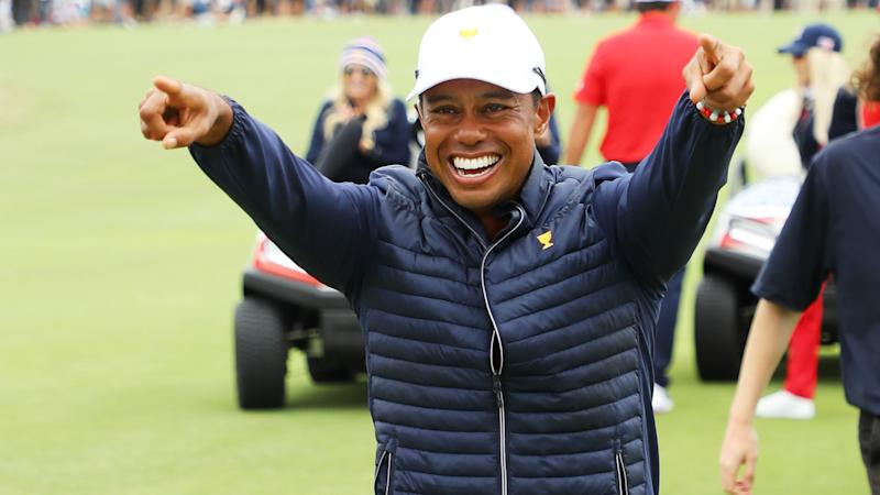 Presidents Cup 2019: Tiger Woods celebrates 'amazing' U.S. comeback