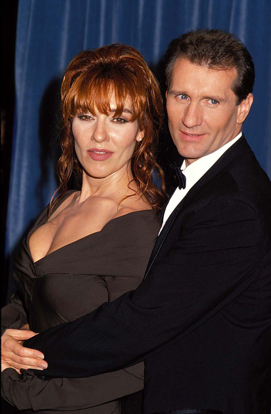 """<p>The """"Married With Children"""" stars posed together, both dressed in sleek black ensembles.</p>"""