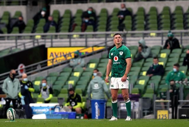 Johnny Sexton was forced off injured in the first half