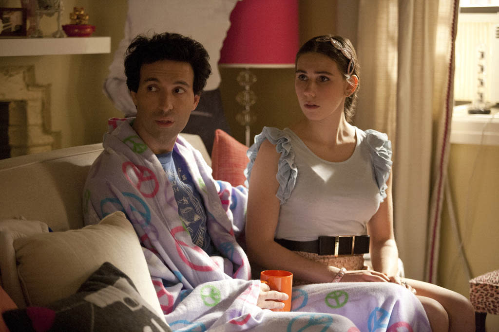 "Alex Karpovsky and Zosia Mamet in the ""Girls"" Season 2 episode, ""On All Fours."""