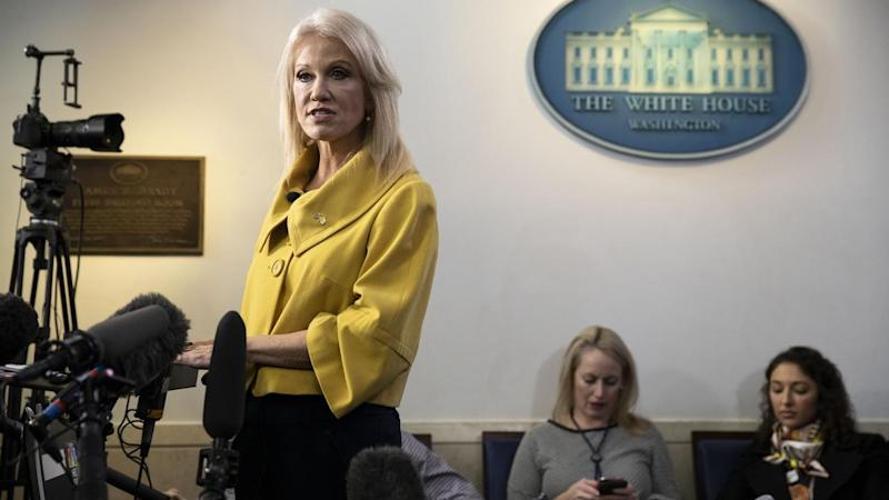 White House adviser Kellyanne Conway says a China trade deal may still be signed before year's end