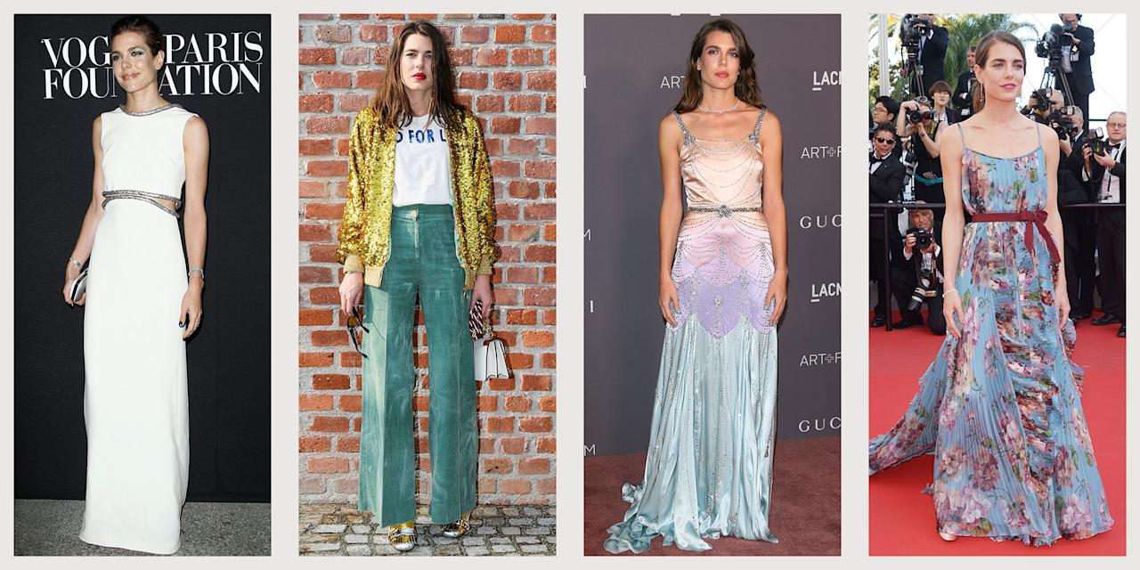 """<p>Charlotte Casiraghi, eleventh in line to the throne of Monaco, has established herself as a fixture in the fashion world. From a young age,<a href=""""https://www.townandcountrymag.com/society/tradition/g25348930/grace-kelly-grandchildren/"""" target=""""_blank""""> Grace Kelly's granddaughter </a>has skillfully tried out trends, created show-stopping looks, and carved out a place for herself as an independent style icon. The champion equestrian and Gucci """"protagonist"""" (she did not want to be called a model) has graced magazine covers and red carpets alike, consistently impressing us with her impeccable taste and beauty. Read on for some of the trendsetting royal's best fashion moment. </p>"""