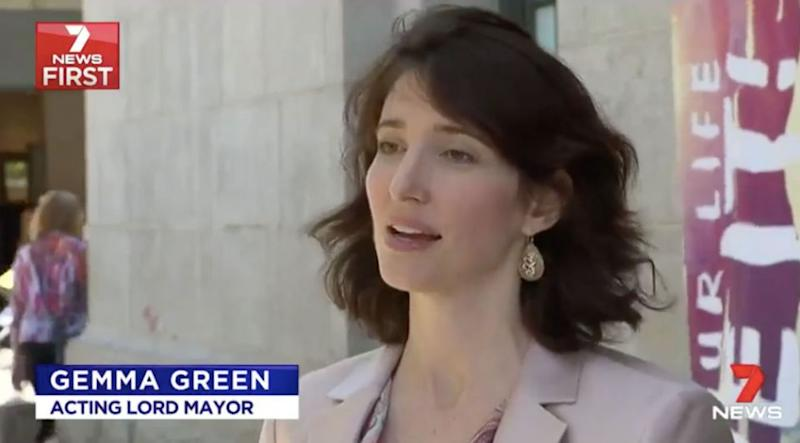 Acting Lord Mayor Gemma Green said they could not ensure people's safety. Source: 7 News