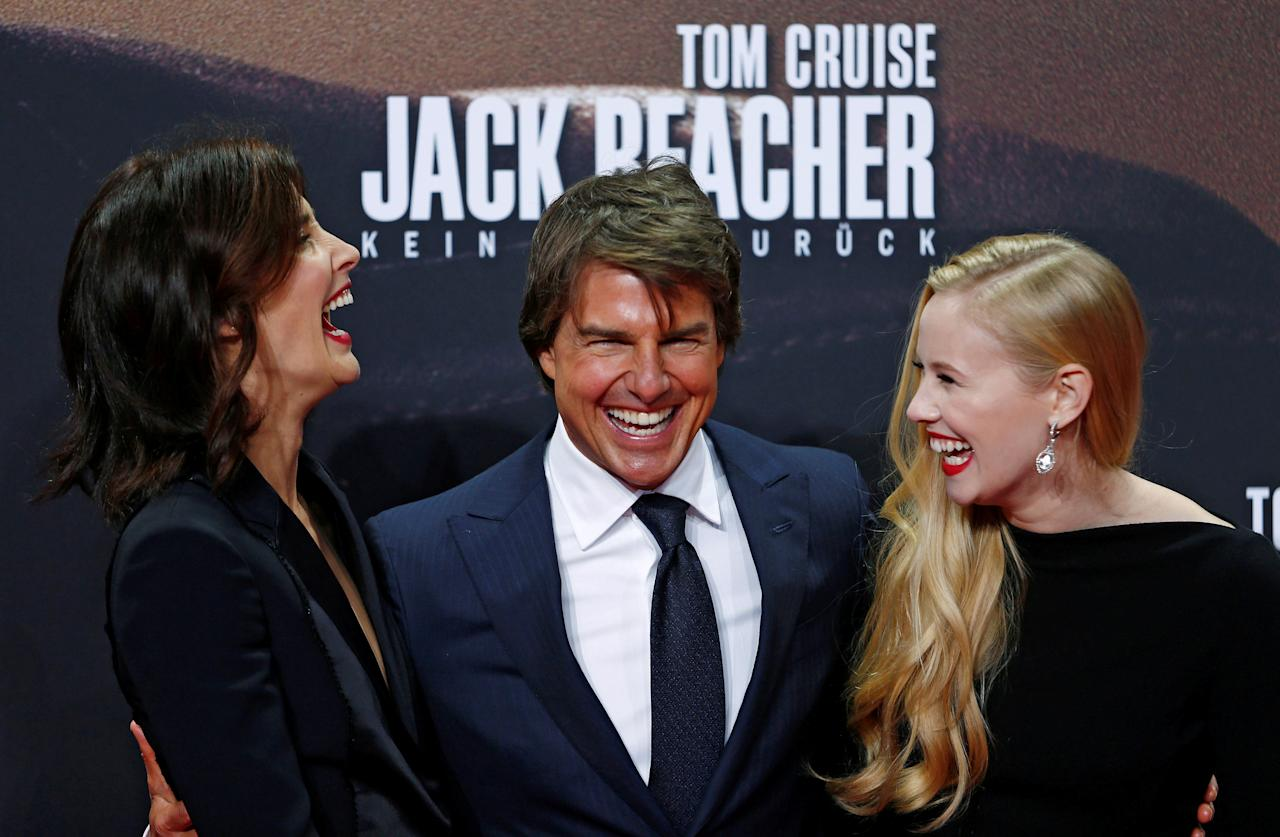 "Actors Cobie Smulders, Danika Yarosh and Tom Cruise arrive for the German premiere of the film ""Jack Reacher: Never Go Back"" in Berlin, Germany, October 21, 2016. REUTERS/Hannibal Hanschke      TPX IMAGES OF THE DAY"