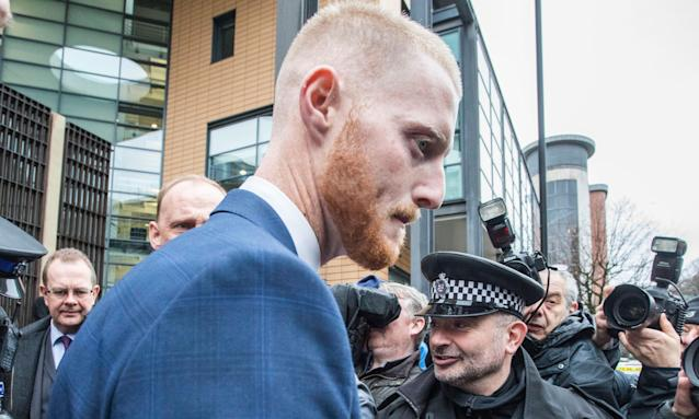 Ben Stokes leaves Bristol magistrates' court after pleading not guilty to a charge of affray.