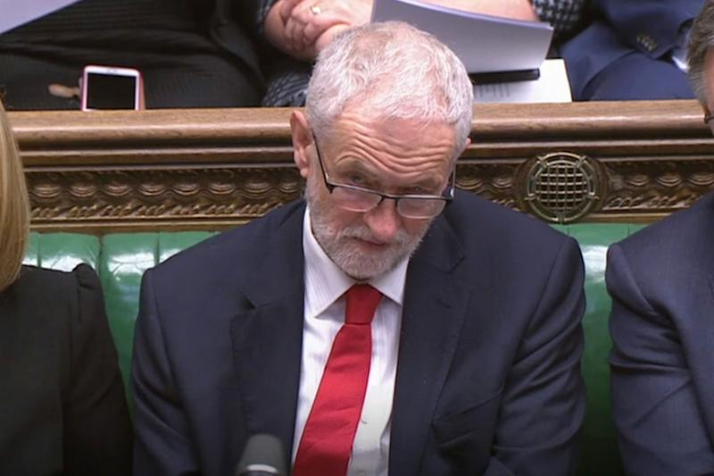 Jeremy Corbyn in the Commons on Tuesday (PA)