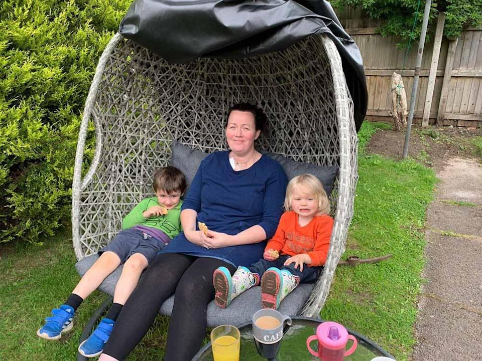 Jemma with son Magnus, four, and Bronwen, three. PA REAL LIFE COLLECT