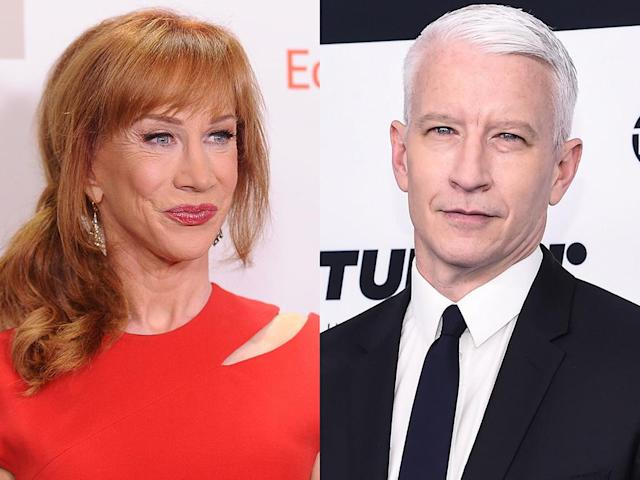 Kathy Griffin and Anderson Cooper's 17-year friendship is over. (Photo: Getty Images)