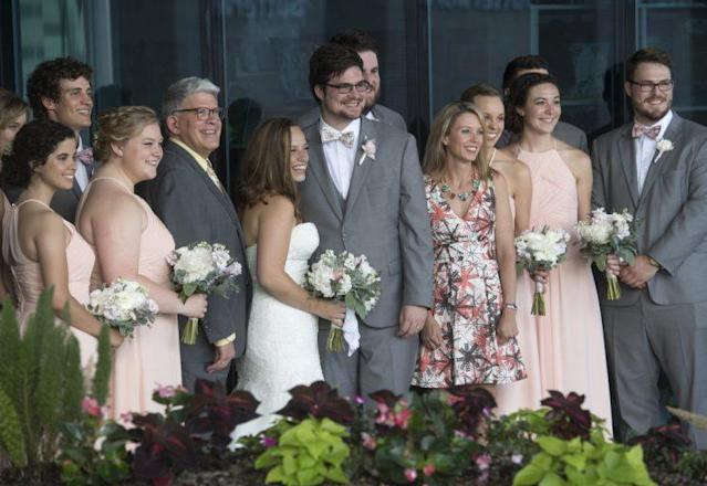 The wedding party. (Photo: Chris Clark, Spectrum Health Beat)