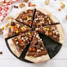 """<p>We went down the peanut butter route for the topping, but you can top it with whatever you like. Add some sliced strawberries, marshmallows, or just leave it at Nutella!</p><p>Get the <a href=""""https://www.delish.com/uk/cooking/recipes/a32000960/chocolate-pizza-recipe/"""" rel=""""nofollow noopener"""" target=""""_blank"""" data-ylk=""""slk:Chocolate Pizza"""" class=""""link rapid-noclick-resp"""">Chocolate Pizza</a> recipe.</p>"""