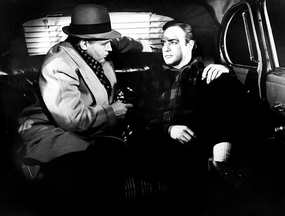 """<a href=""""http://movies.yahoo.com/movie/on-the-waterfront/"""" data-ylk=""""slk:ON THE WATERFRONT"""" class=""""link rapid-noclick-resp"""">ON THE WATERFRONT</a> (1954) <br>Directed by: <span>Elia Kazan</span> <br>Starring: <span>Marlon Brando</span>, <span>Karl Malden</span> and <span>Lee J. Cobb</span>"""