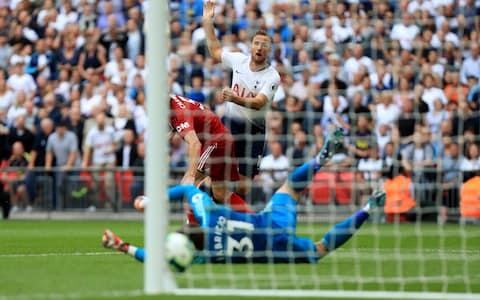 Harry Kane shoots and scores... in August - Credit: getty images