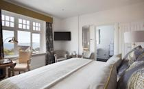 """<p>For a cosy, intimate hotel that comes at a great price, look no further than <a href=""""https://go.redirectingat.com?id=127X1599956&url=https%3A%2F%2Fwww.booking.com%2Fhotel%2Fgb%2Fthe-gannet-inn.en-gb.html%3Faid%3D2070929%26label%3Dsynd-cornwall-hotels&sref=https%3A%2F%2Fwww.redonline.co.uk%2Ftravel%2Finspiration%2Fg35836742%2Fbest-hotels-in-cornwall-1%2F"""" rel=""""nofollow noopener"""" target=""""_blank"""" data-ylk=""""slk:The Gannet"""" class=""""link rapid-noclick-resp"""">The Gannet</a>, just a short distance from Carbis Bay Beach. The inn has just 16 boutique bedrooms, many with soaring sea views. As well as the boutique bedrooms, you'll find traditional British food with a modern twist and a bar with a cosy fireplace.</p><p>The rooms are elegant and homely, with quirky pieces to make each unique. After hours of sunning yourself, you can find respite on the shaded terrace in the garden. While here, taking to the wonderful water by kayaking or paddle boarding is a great way to discover the beauty of Cornwall. </p><p><a class=""""link rapid-noclick-resp"""" href=""""https://go.redirectingat.com?id=127X1599956&url=https%3A%2F%2Fwww.booking.com%2Fhotel%2Fgb%2Fthe-gannet-inn.en-gb.html%3Faid%3D2070929%26label%3Dsynd-cornwall-hotels&sref=https%3A%2F%2Fwww.redonline.co.uk%2Ftravel%2Finspiration%2Fg35836742%2Fbest-hotels-in-cornwall-1%2F"""" rel=""""nofollow noopener"""" target=""""_blank"""" data-ylk=""""slk:CHECK AVAILABILITY"""">CHECK AVAILABILITY</a></p>"""