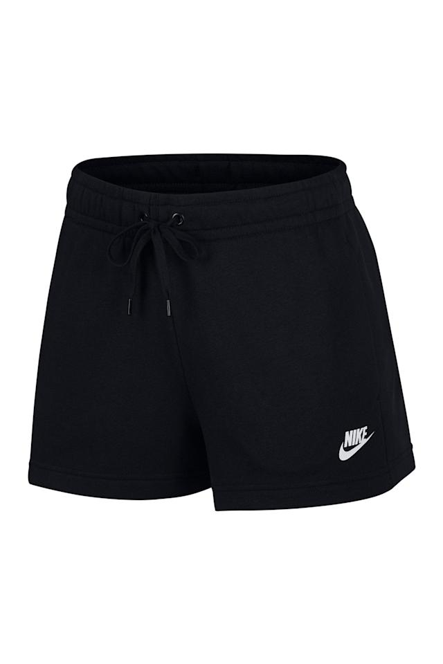 "<p><strong>Nike</strong></p><p>nordstromrack.com</p><p><a href=""https://go.redirectingat.com?id=74968X1596630&url=https%3A%2F%2Fwww.nordstromrack.com%2Fshop%2Fproduct%2F3098163&sref=https%3A%2F%2Fwww.prevention.com%2Ffitness%2Fg33538100%2Fnordstrom-rack-nike-sale%2F"" target=""_blank"">Shop Now</a></p><p><del>$35</del><strong><br>$26.97</strong></p><p>With an elastic waistband and terry fleece material, these shorts are the summer equivalent to your favorite pair of sweatpants. </p>"