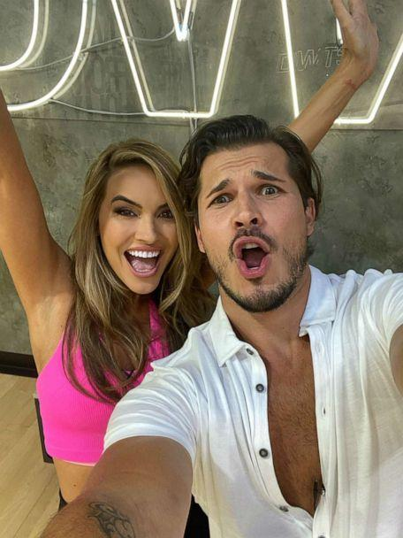 PHOTO: Chrishell Stause takes a selfie with her 'Dancing With the Stars' partner Gleb Savchenko during rehearsal. (Courtesy Chrishell Stause)