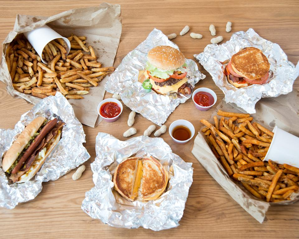 Five Guys burgers and chips