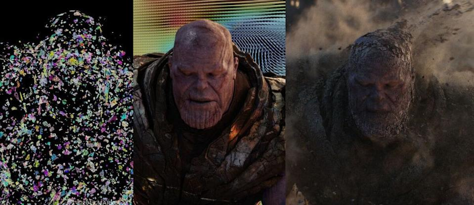 VFX breakdown of Josh Brolin as Thanos in his final scenes in 'Avengers: Endgame'. (Credit: Marvel)