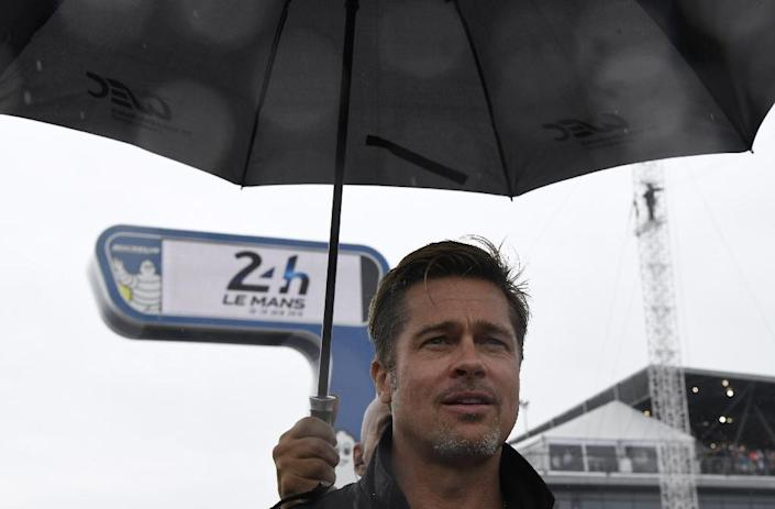 """Actor Brad Pitt, born to a middle-class family in Oklahoma, came into the public eye 25 years ago in the hit movie """"Thelma and Louise"""" and went on to become a household name in Hollywood (AFP Photo/Jean-Francois Monier)"""