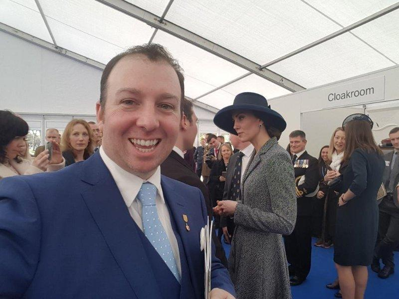 The American, pictured here at an event alongside the Duchess of Cambridge, said he identified more as British