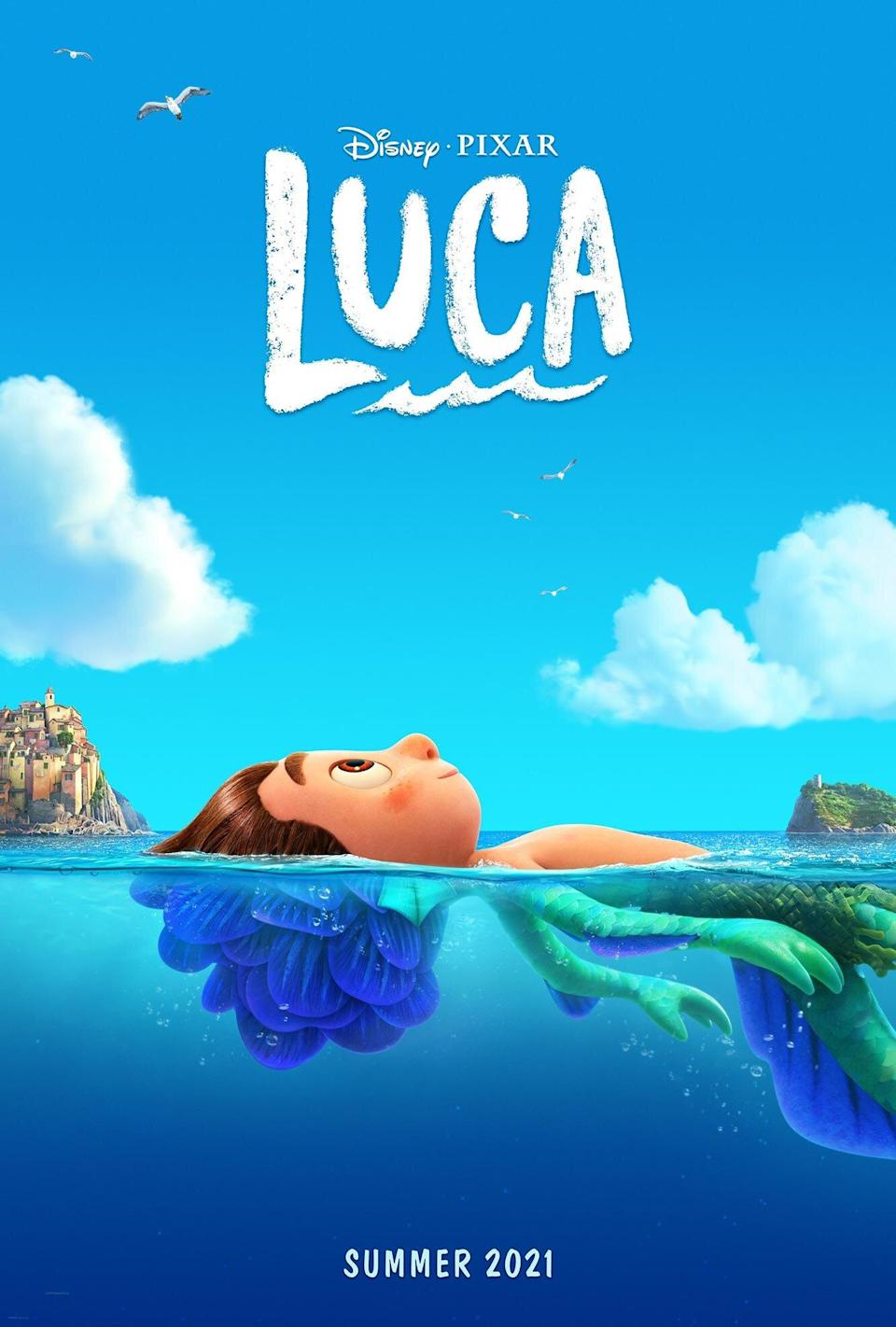 Pixar Reveals New Look At Luca With A Sun Kissed Poster