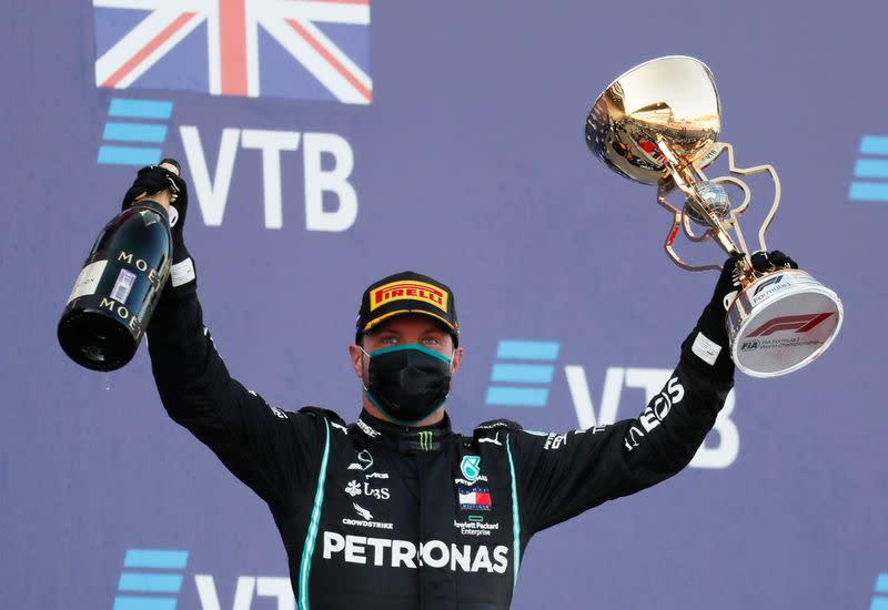 Motor racing: Bottas wins as penalties put Hamilton record bid on hold