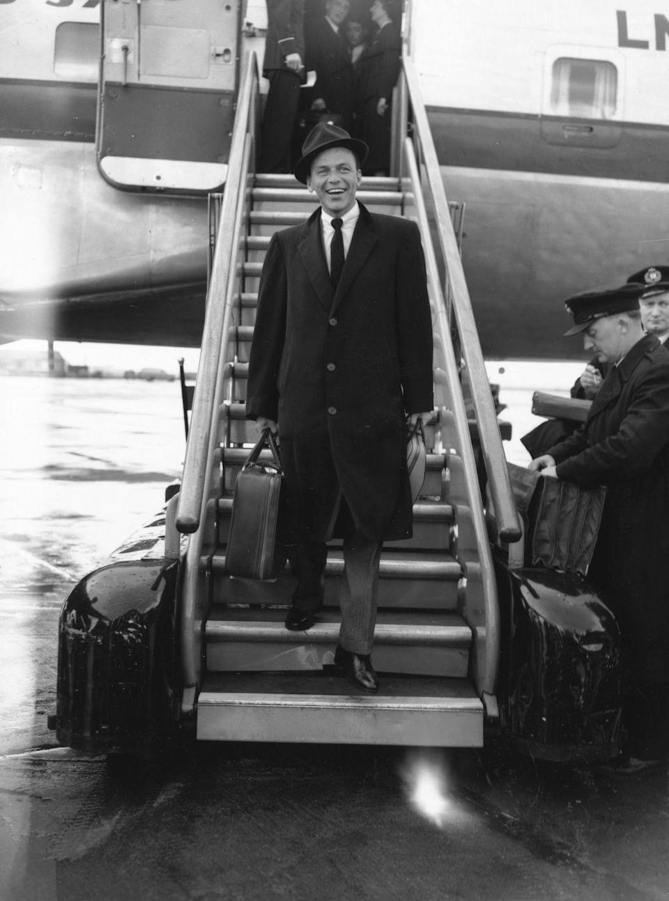 <p>Sinatra was just getting started at the age of 40: He was at the beginning of his major comeback, having released <em>In the Wee Small Hours of the Morning</em>. At the time, he was married to Ava Gardner. </p>