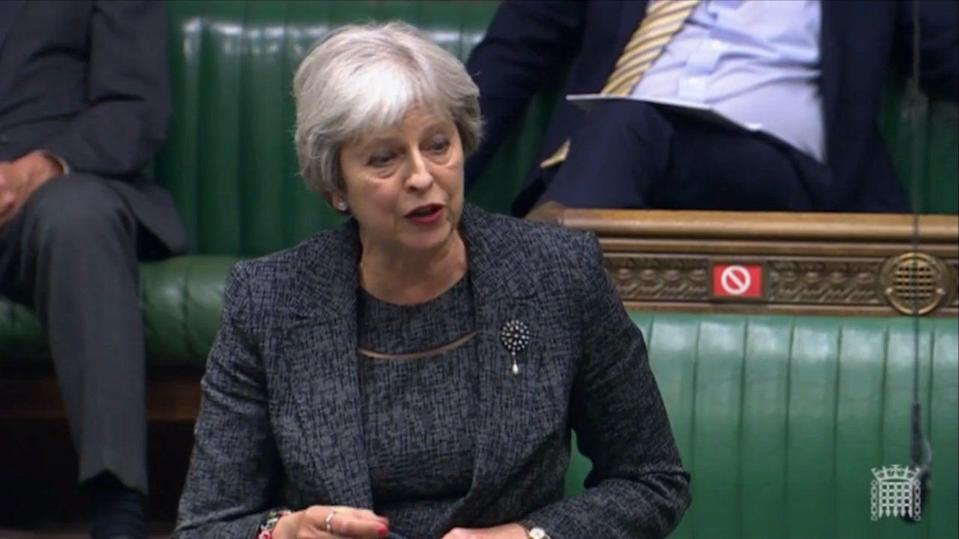 Ms May has not declared herself as a candidate for the role, which will become vacant when Jens Stoltenberg steps down next year (UK parliament)