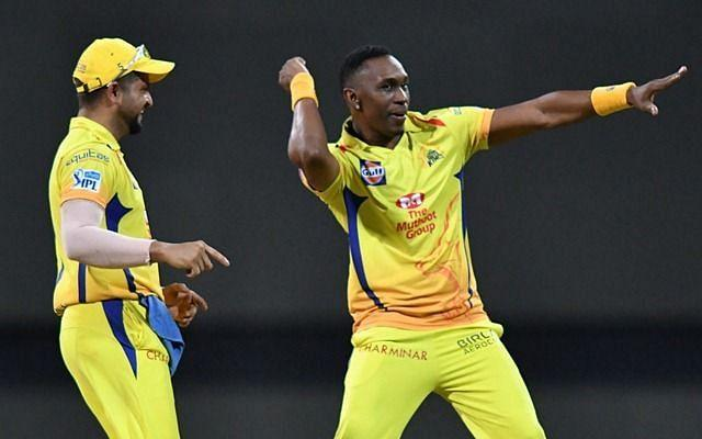 DJ Bravo (R) will be crucial to Chennai Super Kings's IPL title hopes this season