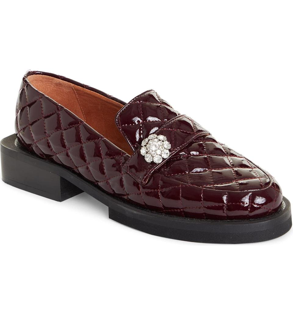 <p><span>Ganni Quilted Patent Loafers</span> ($255, originally $425)</p>