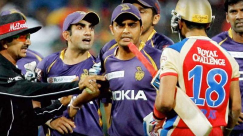 Gambhir had an infamous altercation with Kohli during an IPL game