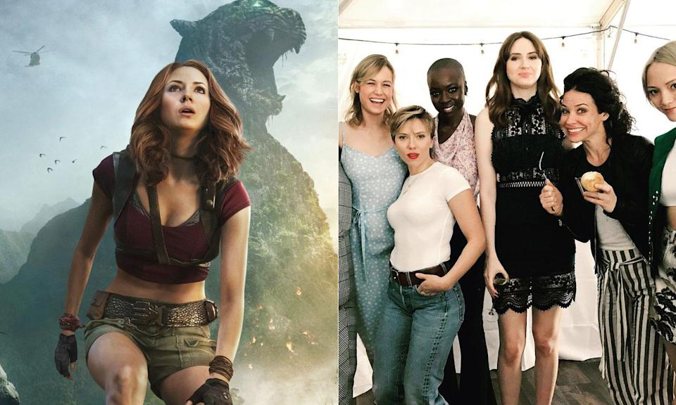 Karen Gillan gives us behind the scenes insight into the 'ladies of Marvel' picture.