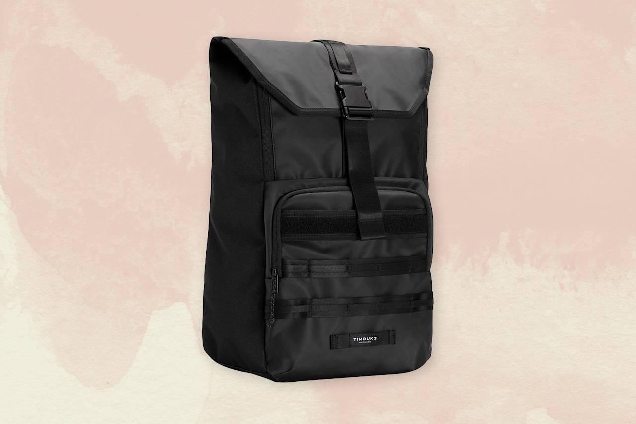 """<p><a href=""""https://www.cntraveler.com/destinations/san-francisco?mbid=synd_yahoo_rss"""">San Francisco-based</a> Timbuk2 originally made bags for the city's many bike messengers, and that original use-case still inspires key elements of the brand's backpacks: they're durable, organized, and comfortable to wear. We love the Spire because the nylon exterior will hold up no matter how many times you shove it under the seat in front of you, yet it looks sleek enough to walk straight off the plane and into a meeting with. It also has a padded laptop compartment, and handy slots for notebooks and your passport—and all of them are easy to access thanks to multiple entry points. Despite all that storage space, the profile is pretty sleek, too, so it won't look like you're carrying your life on your back, even if you are.</p> <p><strong>Buy now</strong>: $70 (originally $99), <a href=""""https://click.linksynergy.com/deeplink?id=mcB7N8bf3MY&mid=1237&u1=nordstromblackfriday2019&murl=https%3A%2F%2Fshop.nordstrom.com%2Fs%2Ftimbuk2-spire-backpack%2F4024624%2Ffull"""" rel=""""nofollow"""">nordstrom.com</a></p>"""