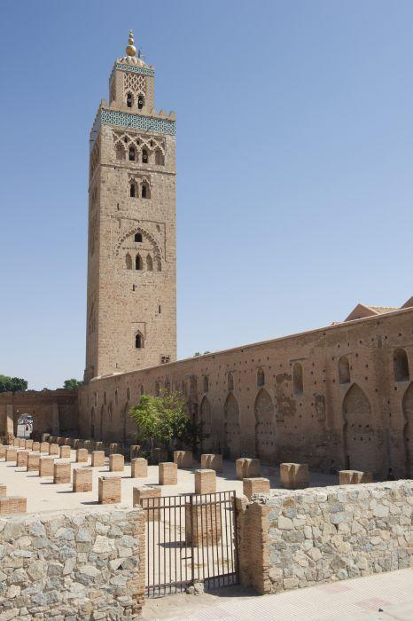 <b>MARRAKECH, MOROCCO:</b> The Koutoubia Mosque in Marrakech, Morocco. Its minaret is nearly 70 metres high and was built under the reign of Caliph Yaqub al-Mansur of the Almohad dynasty in the 12th century.