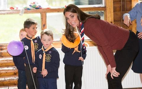 The Duchess of Cambridge puts her Scout leader training to the test - Credit: Eddie Mulholland For The Telegraph