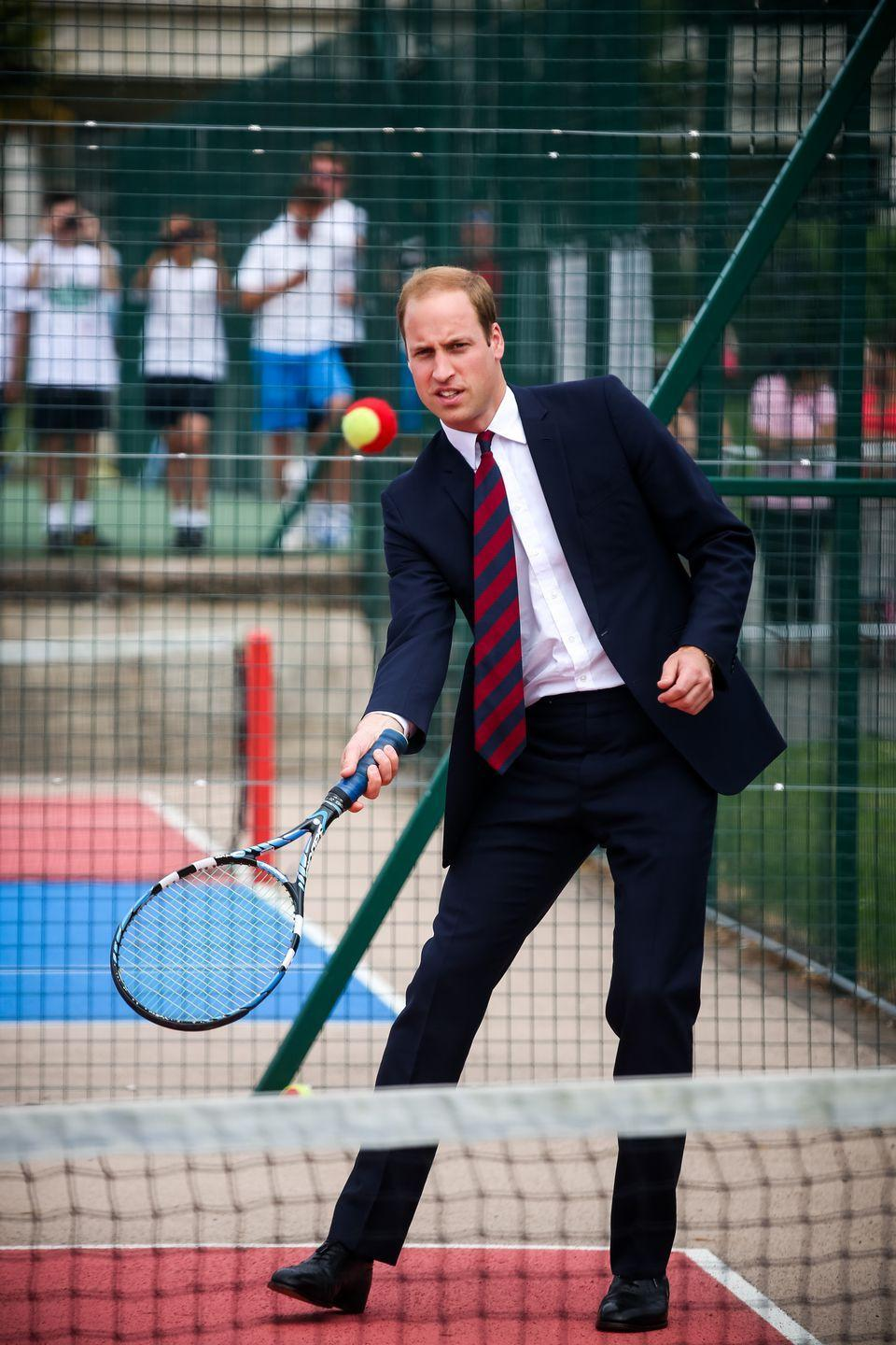 <p>During a visit to the Coventry War Memorial Park, Prince William hit a few balls while fans looked on. </p>