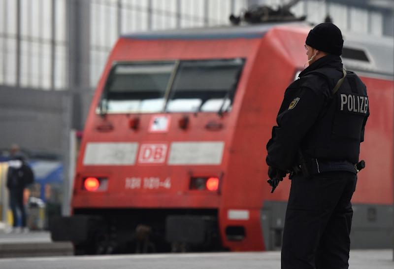 Two key train stations in Munich were evacuated overnight amid fears jihadists were planning a New Year suicide bomb assault (AFP Photo/Christof Stache)