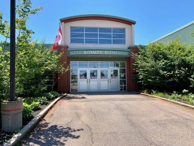 West Royalty Elementary reopened Monday following a shutdown due to COVID-19. (Jane Robertson/CBC - image credit)