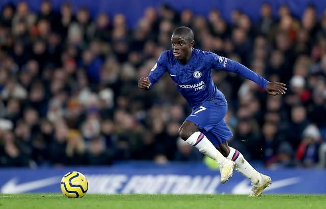 N'Golo Kante, pictured, is ready for action for Chelsea (Bradley Collyer/PA)
