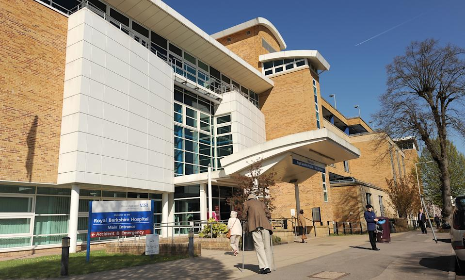 General view of the main entrance for the Royal Berkshire Hospital in Reading