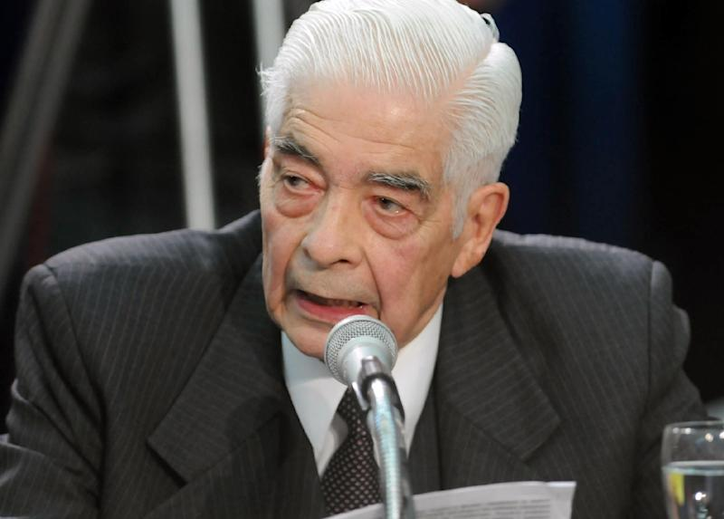 The late Argentine dictatorship-era general Luciano Benjamin Menendez, seen here testifying in court in 2008, ran a concentration camp where thousands of regime opponents were tortured