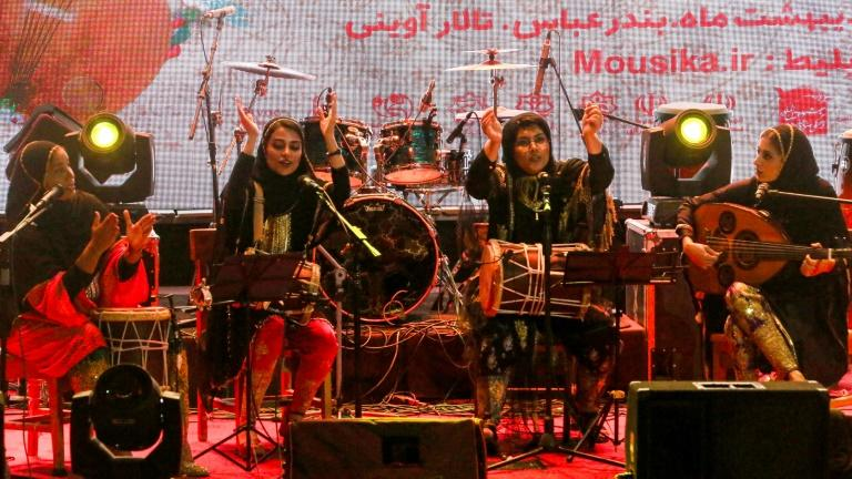 All-women band in Iran struggles to break through