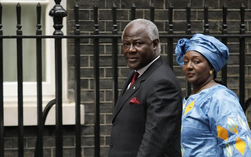Sierra Leone President Ernest Bai Koroma (L) pictured on January 28, 2008 with his wife Sia who is supporting a law allowing abortion in the first 12 weeks of pregnancy and in cases of rape and incest beyond that (AFP Photo/Shaun Curry)