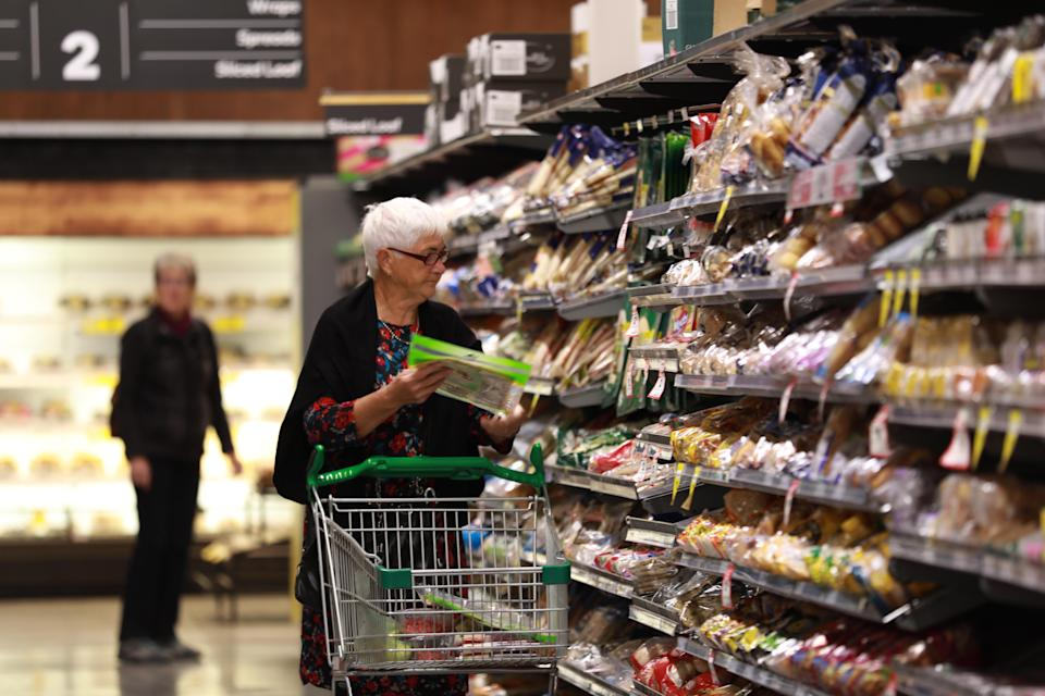 Seniors shopping at a Woolworths supermarket in Canberra, Australia. Source: Getty Images